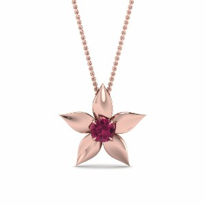 Pink Gold Pink Sapphire Pendant