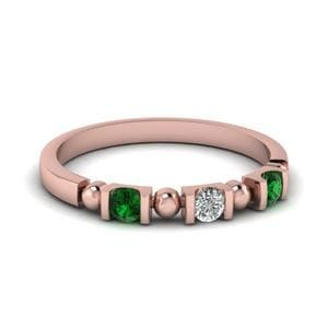 Semi Bezel Emerald Band