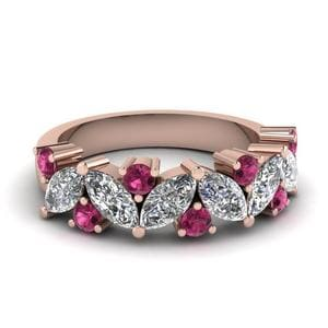 Wedding Ring With Pink Sapphire 2 Ctw.