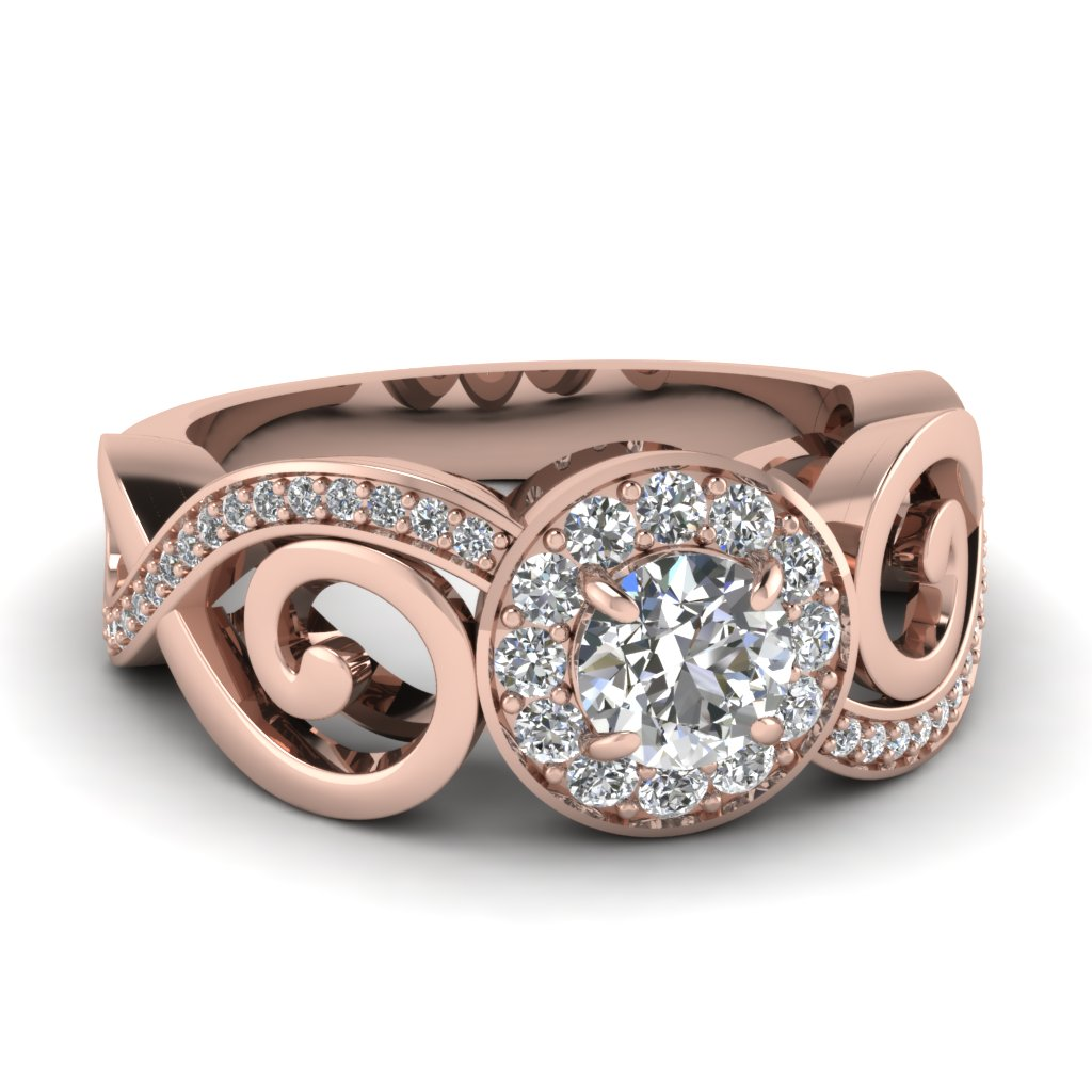 Infinity Halo Filigree Diamond Ring