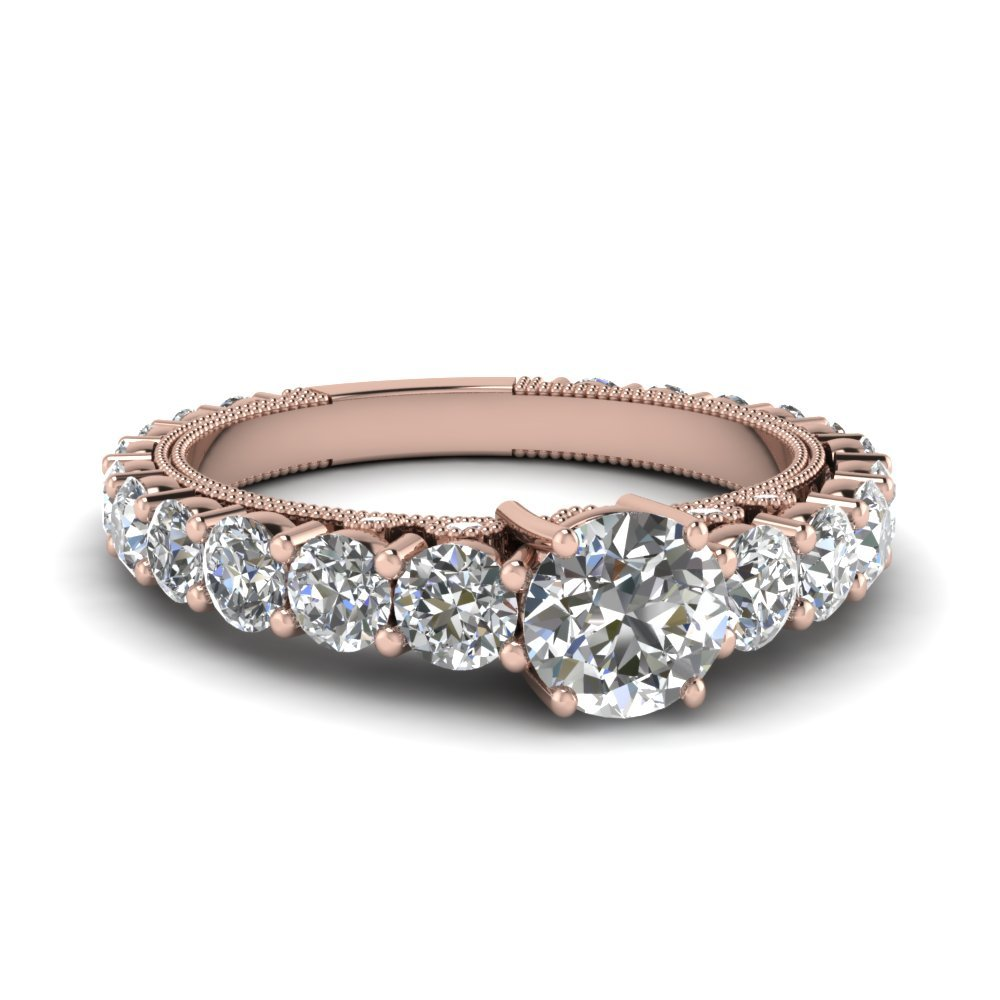 Shared Prong Graduated Diamond Ring