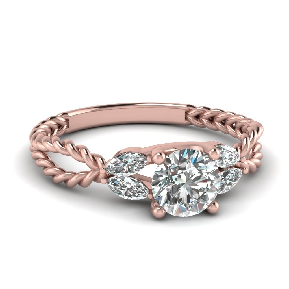 Twisted Engagement Rings
