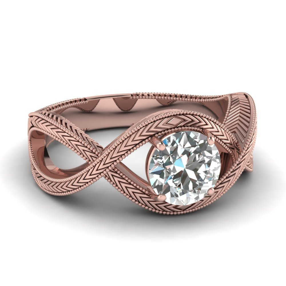 Infinity Crossover Solitaire  Ring