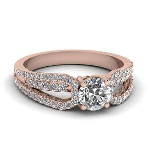 Split Loop Diamond Ring