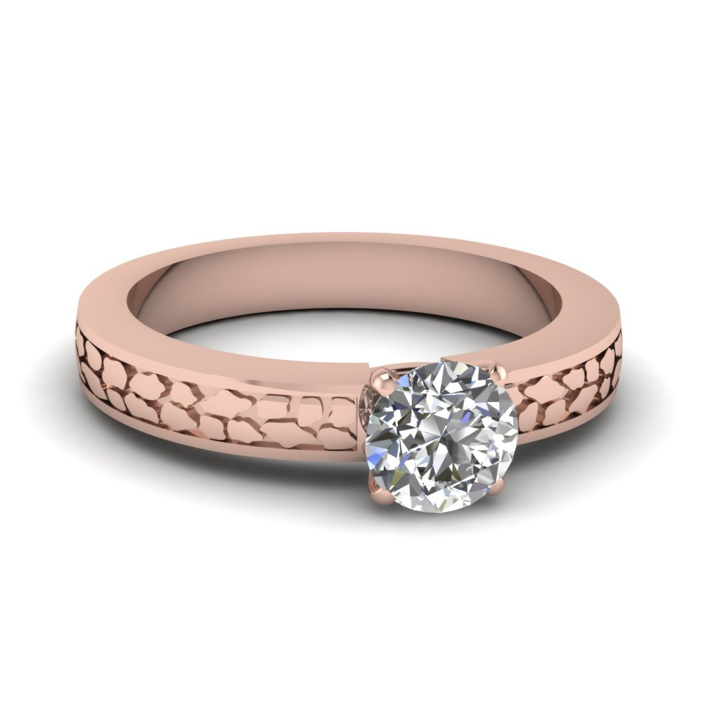 Rose Gold Round Diamond Ring
