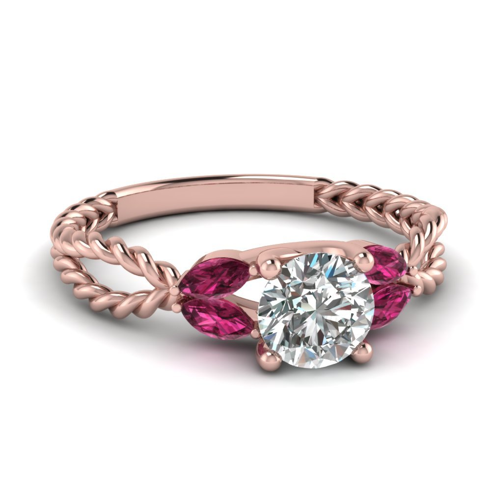 Leaf Vine Diamond Engagemenrt Ring