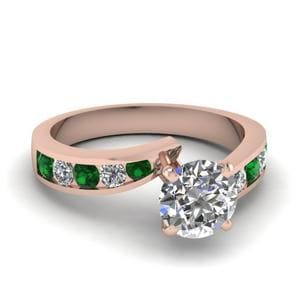 Channel Set Emerald Wedding Ring