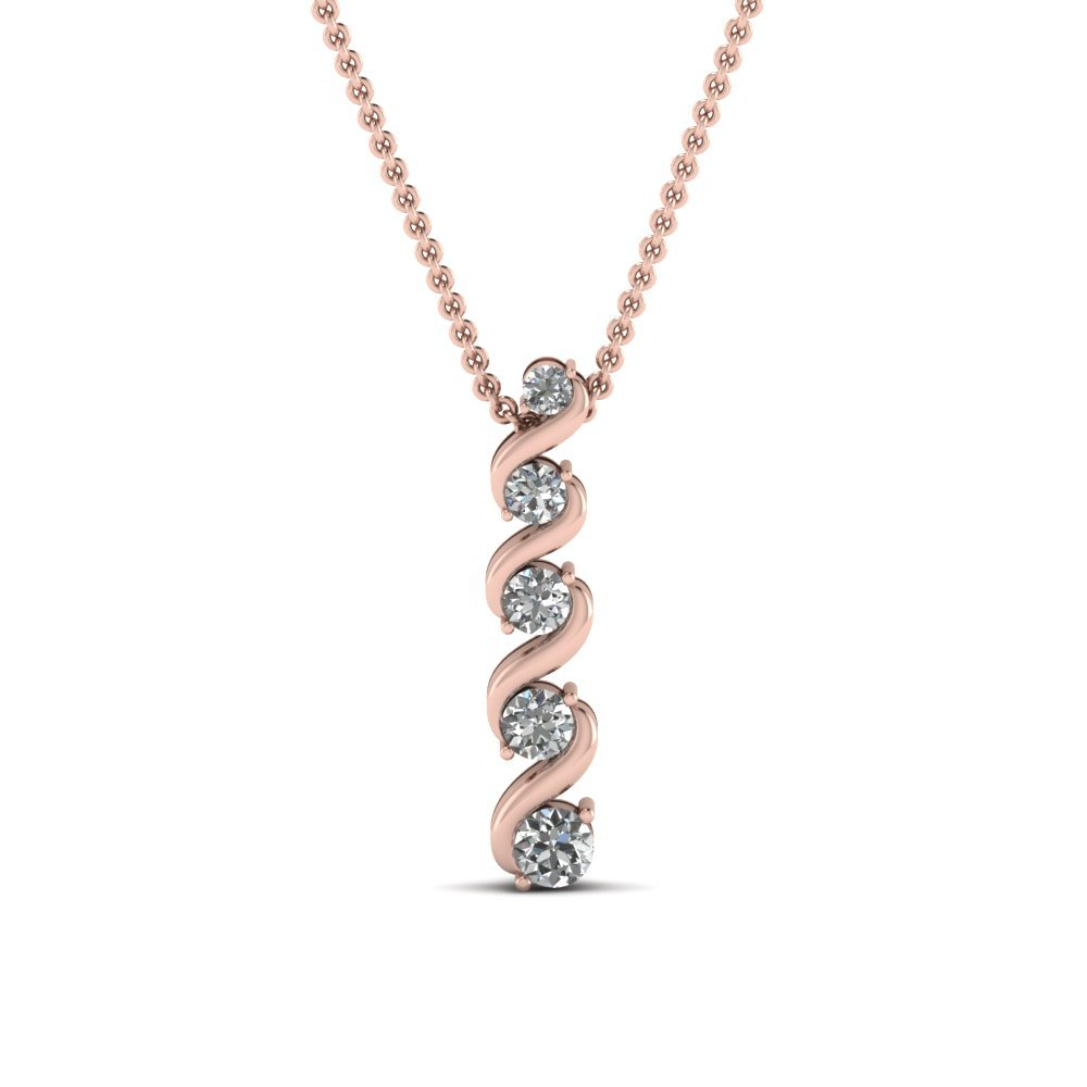 Rose Gold Fancy Pendent