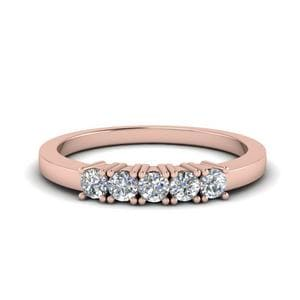 Five Stone Anniversary Band In 14K Rose Gold