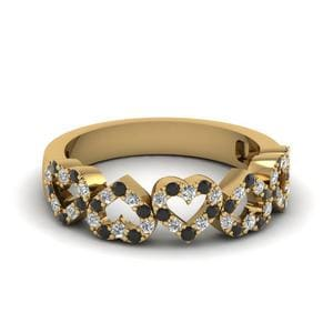 Black Diamond Lustrous Heart Band