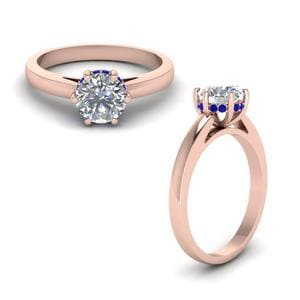 6 Prong Sapphire Engagement Ring
