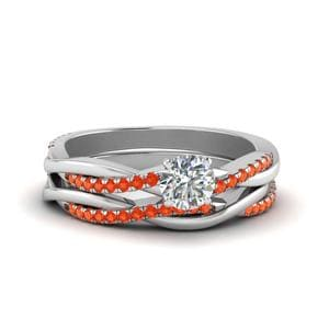 Intertwist Orange Topaz Bridal Set