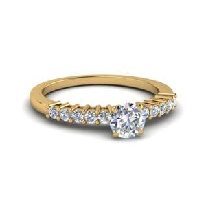 Basket Prong Diamond Small Ring