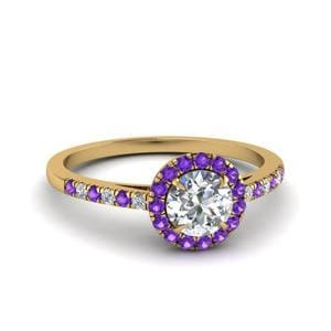 French Pave Purple Topaz Ring
