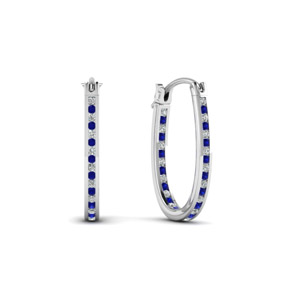 Diamond Hoop Earrings (0.50 Ctw)