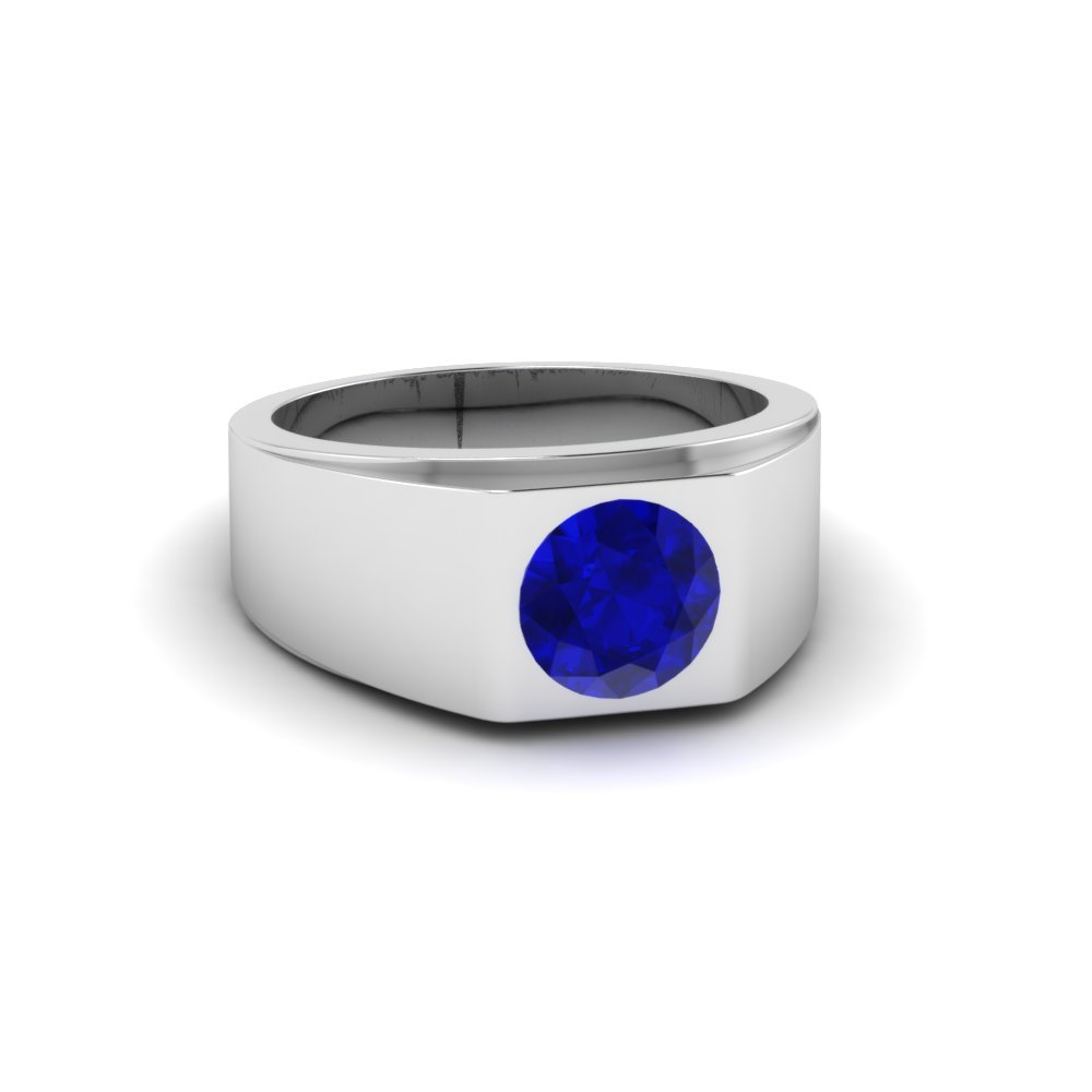 tapered solitaire sapphire wedding ring
