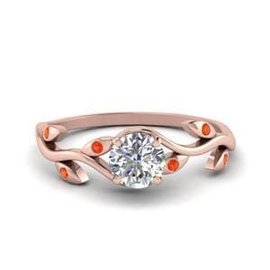 Round Diamond Branch Ring