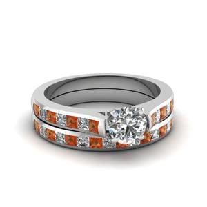 Channel Set Round Diamond Bridal Set