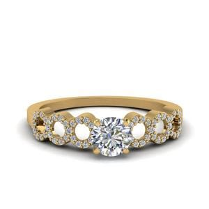 Round Cut Petite Diamond Ring