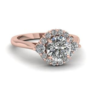 Flower Cathedral Diamond Ring