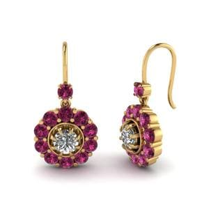 Floral Pink Sapphire Earring