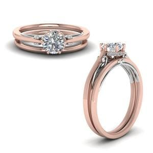 2 Tone Diamond Wedding Set