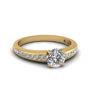 Delicate Channel Diamond Ring