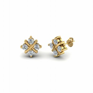 Square Criss Cross Earring