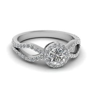 Pave Set Halo Diamond Ring