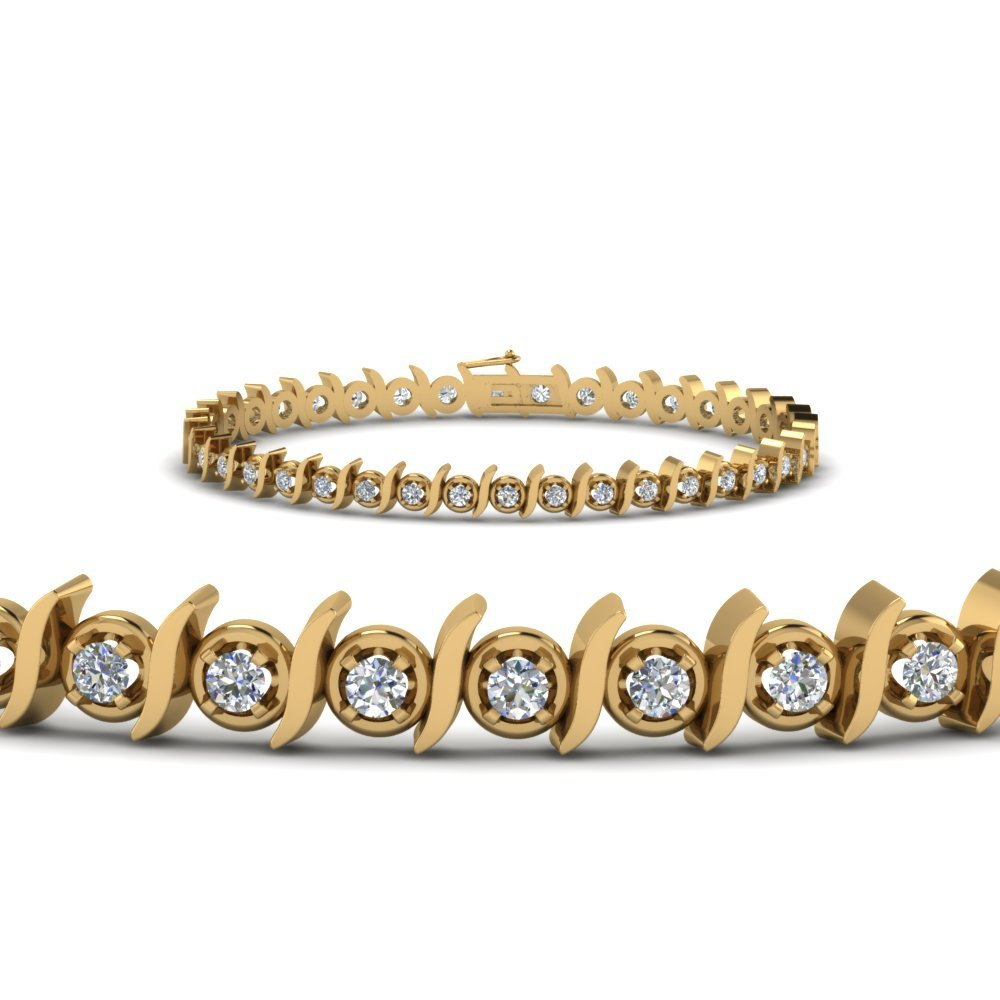 Gold Tennis Diamond Bracelet