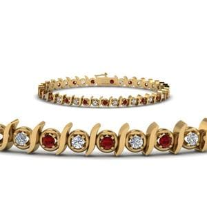 Timeless Ruby Tennis Bracelet