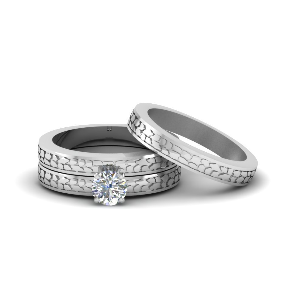 Wedding Ring Sets In 18K White Gold