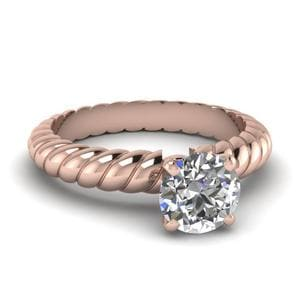 Single Solitaire Round Diamond Ring