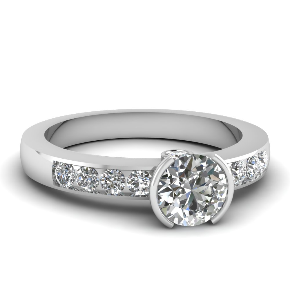 Round Cut Channel Set 3/4 Ct. Ring