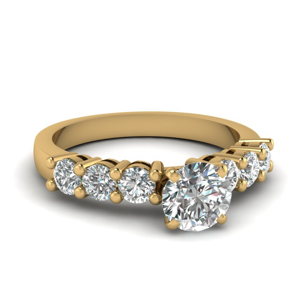 Elevated 4 Prong Round Diamond Ring