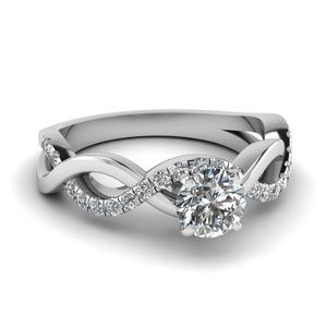 Round Cut Infinity Diamond Ring