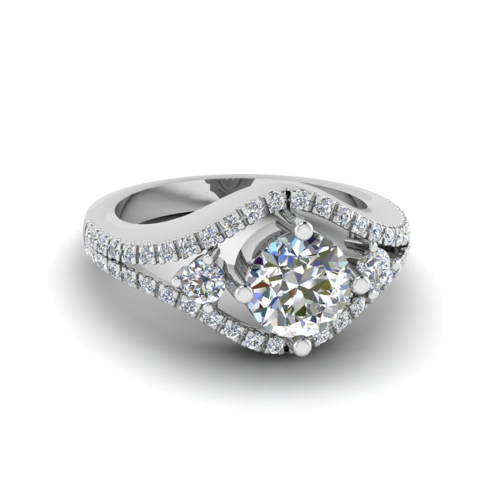 Duet Diamond Engagement Ring