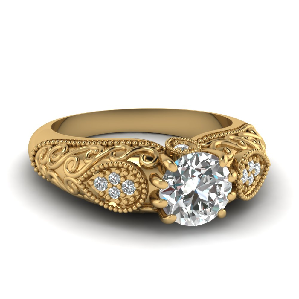 Vintage Round Engagement Rings