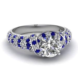 Entwined Micropave Diamond Ring