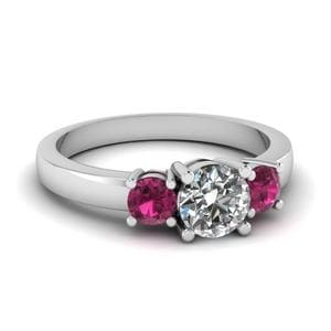 3 Stone Round Cut Diamond Ring