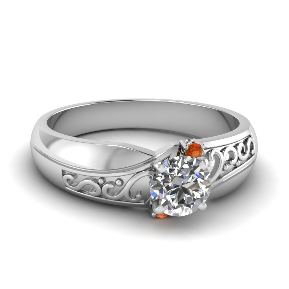 Filigee Antique 3 Stone Ring