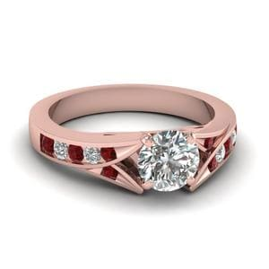 Split Shank Round Diamond Ring
