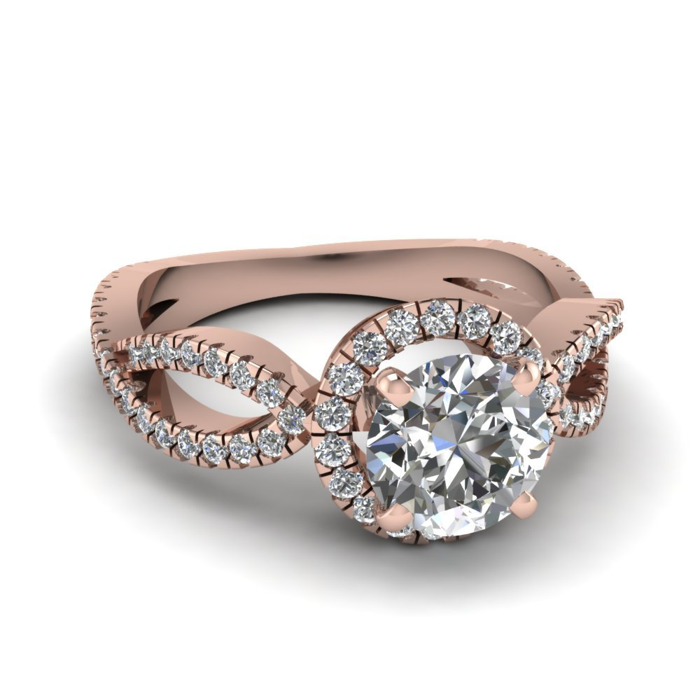 Round Cut Halo Infinity Diamond Ring