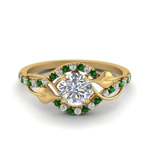 Emerald Ring Nature Inspired