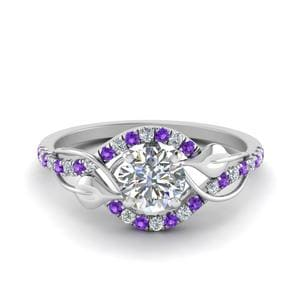 Nature Inspired Purple Topaz Ring