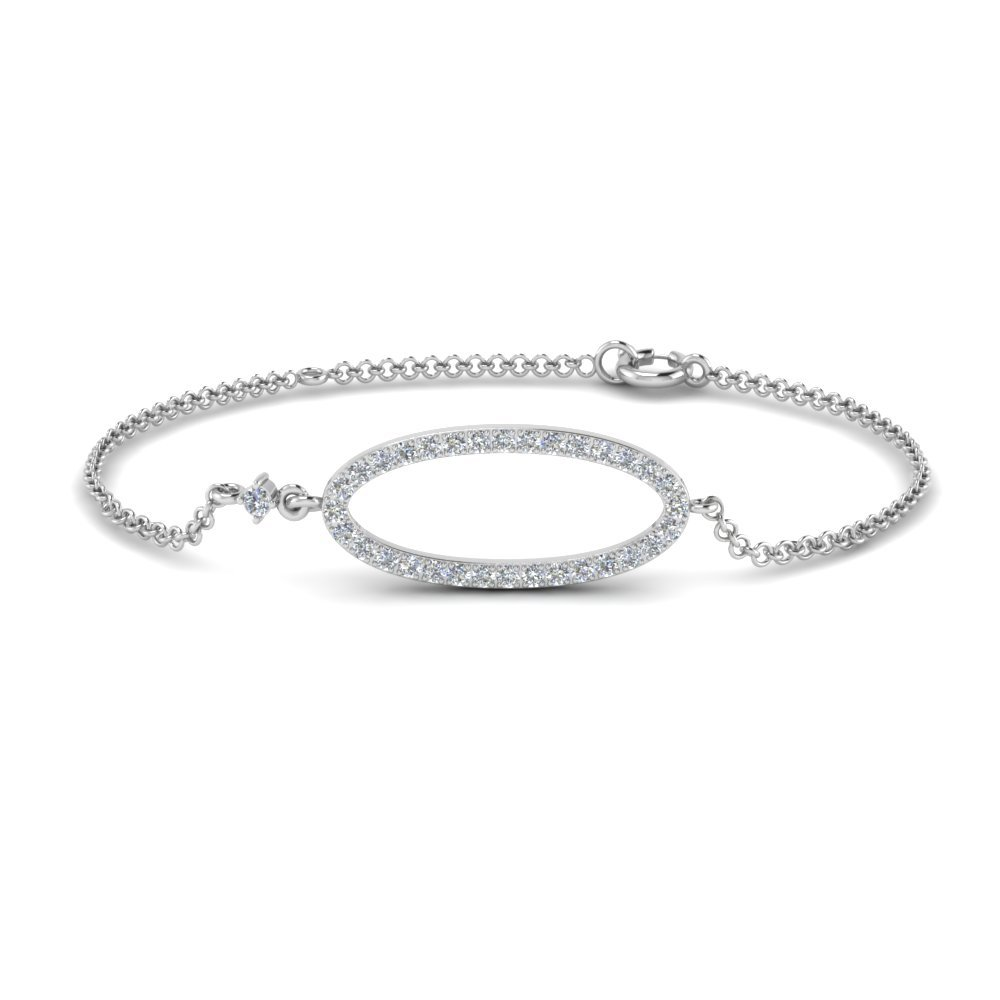 Diamond Oval Link Bracelet for mom