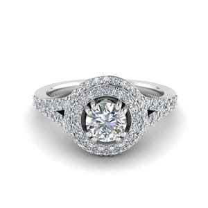 Petite Double Halo Engagement Ring
