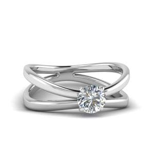 Double Shank Solitaire Ring