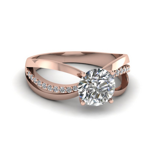 Inverse Split Round Cut Engagement Ring