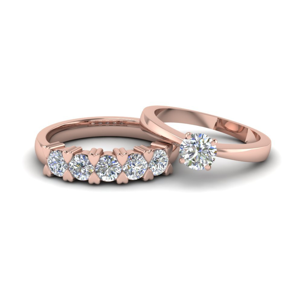 Round Cut Solitaire Wedding Set